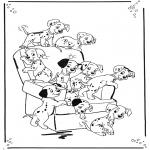 Stripfiguren Kleurplaten - 101 dalmatiers 1