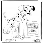 Stripfiguren Kleurplaten - 101 Dalmatiers 6