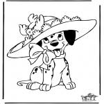 Stripfiguren Kleurplaten - 101 Dalmatiers 7