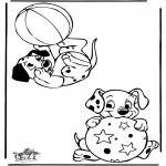 Stripfiguren Kleurplaten - 101 Dalmatiers 9