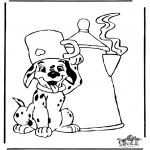 Stripfiguren Kleurplaten - 101 Dalmatiers kleurplaten
