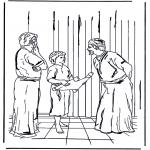 Kleurplaten Bijbel - 12jarige Jezus