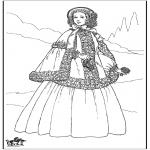 Allerlei Kleurplaten - 19e eeuwse dame 1
