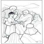 Kleurplaten Bijbel - 5 broden en 2 vissen 3
