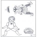 Knutselen - Aankleedpop en kleren 2