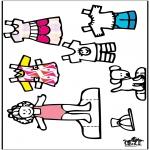 Knutselen - Aankleedpop en kleren 3