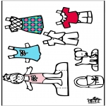 Knutselen - Aankleedpop en kleren 4