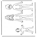 Knutselen - Aankleedpop kinderen