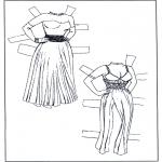 Knutselen - Aankleedpop kleren 1