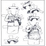 Knutselen - Aankleedpop kleren 5