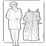 Knutselen - Aankleedpop oma