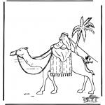 Kleurplaten Bijbel - Abraham in Egypte