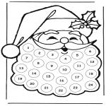 Kerst Kleurplaten - Adventskalender kerstman