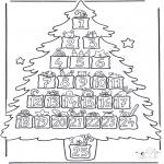 Kerst Kleurplaten - Adventskalender