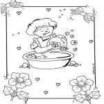 Kinderkleurplaten - Afwassen