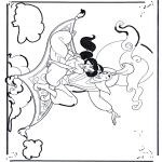 Stripfiguren Kleurplaten - Aladdin 1