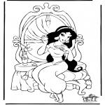 Stripfiguren Kleurplaten - Aladdin 7
