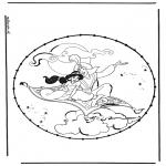 Knutselen Borduurkaarten - Aladdin borduurkaart 2