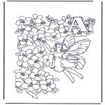 Allerlei Kleurplaten - Alfabet A