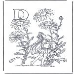 Allerlei Kleurplaten - Alfabet D