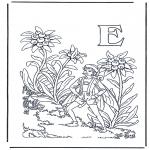 Allerlei Kleurplaten - Alfabet E