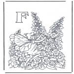 Allerlei Kleurplaten - Alfabet F