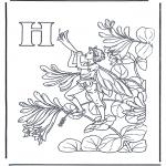 Allerlei Kleurplaten - Alfabet H