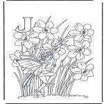 Allerlei Kleurplaten - Alfabet J