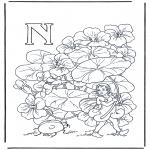 Allerlei Kleurplaten - Alfabet N