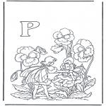 Allerlei Kleurplaten - Alfabet P
