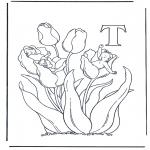 Allerlei Kleurplaten - Alfabet T