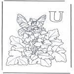 Allerlei Kleurplaten - Alfabet U