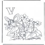 Allerlei Kleurplaten - Alfabet V
