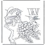 Allerlei Kleurplaten - Alfabet W
