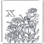 Allerlei Kleurplaten - Alfabet X