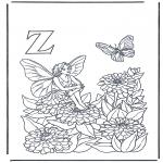 Allerlei Kleurplaten - Alfabet Z