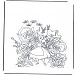 Stripfiguren Kleurplaten - Alice in Wonderland 1