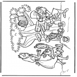 Stripfiguren Kleurplaten - Alice in Wonderland 2