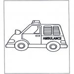 Allerlei Kleurplaten - Ambulance