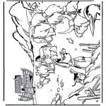 Kleurplaten Bijbel - Ark van Noach 1