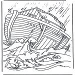 Kleurplaten Bijbel - Ark van Noach 2