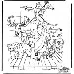 Kleurplaten Bijbel - Ark van Noach 3