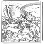 Kleurplaten Bijbel - Ark van Noach 4