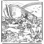 Kleurplaten Bijbel - Ark van Noach 5