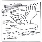 Kleurplaten Bijbel - Ark van Noach kleurplaten