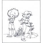 Stripfiguren Kleurplaten - Arthur en de Minimoys 4