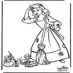 Stripfiguren Kleurplaten - Assepoester 12