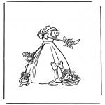 Stripfiguren Kleurplaten - Assepoester 2