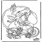 Stripfiguren Kleurplaten - Assepoester 5