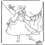 Stripfiguren Kleurplaten - Assepoester 8